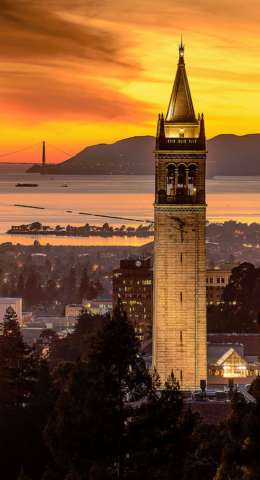 city of berkeley at sunset