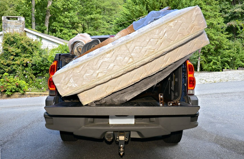 matress removal and disposal using pickup truck